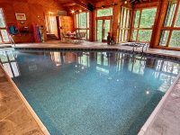 indoor swimming pool in rental cabin in rushville, ohio