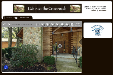Virtual Tour of cabin in rushville, ohio